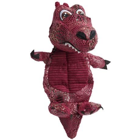 Best Pet Fire Dragon Plush Mat Dog Toy - Squeaker