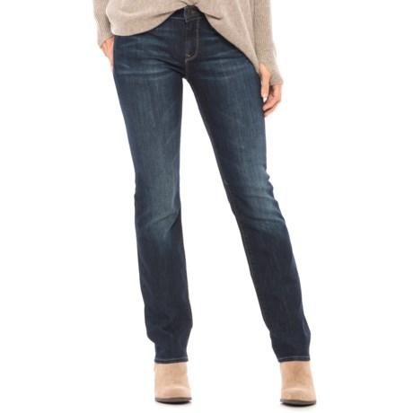 Mavi Kerry Deep Gold Contour Jeans - Mid Rise, Straight Leg (For Women)