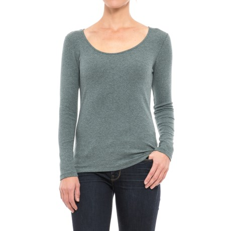 Cynthia Rowley Scoop Neck T-Shirt - Long Sleeve (For Women)
