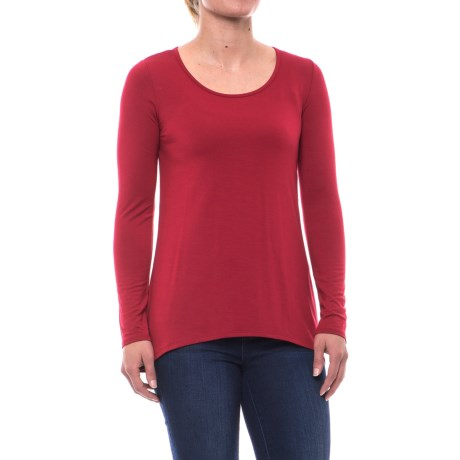 Kenar Scoop Neck Shirt - Stretch Modal, Long Sleeve (For Women)