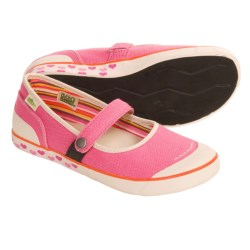 Simple Macaroon Mary Jane Shoes - Hemp, Recycled Materials (For Girls)