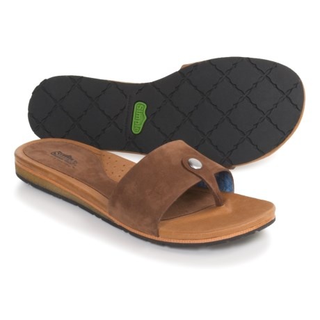 Simple Suntan Sandals - Leather, Flip-Flops (For Women)