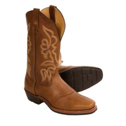 Dan Post Leather Cowboy Boots - Square Toe, Saddle Vamp (For Men)
