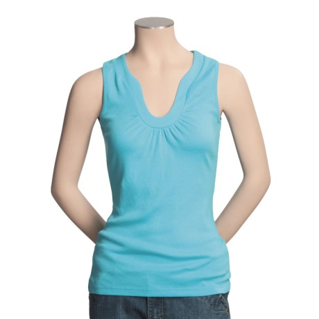 Lilla P Ruched Tank Top (For Women)