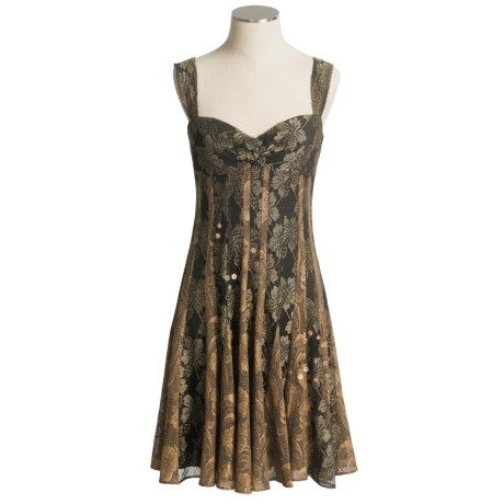 Muse Stretch Lace Metallic Dress with Straps (For Women)