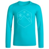 Spyder Boxed Crest Base Layer Top - Long Sleeve (For Girls)