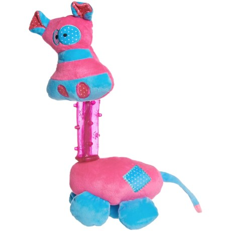 ABO Gear Funzies Plush and TPR Zebra Dog Toy - Squeaker