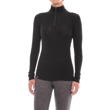 Ibex Woolies 1 Base Layer Zip Turtleneck - Merino Wool, Long Sleeve (For Women)