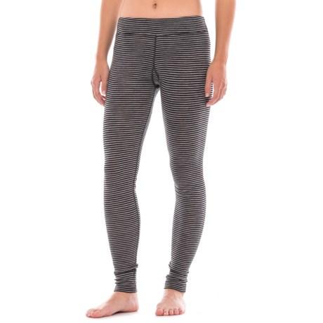 Ibex Woolies 1 Striped Base Layer Pants - Merino Wool (For Women)