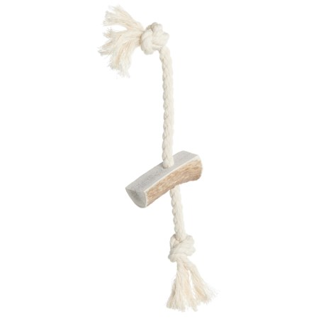 """Paws & Co. Rope Antler Dog Toy - 8"""""""