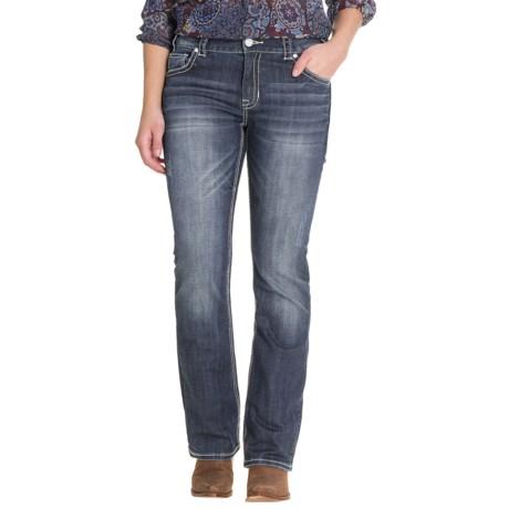 Rock & Roll Cowgirl Chevron Crossing Jeans - Boyfriend Fit, Bootcut (For Women)