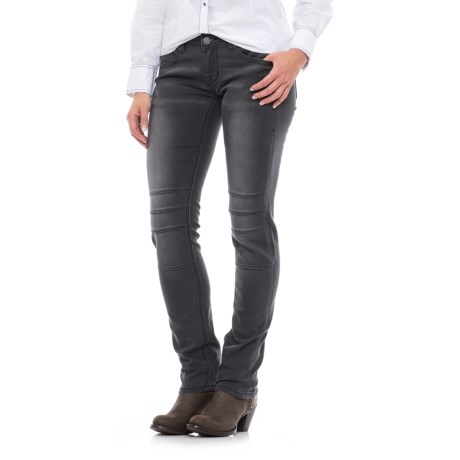 Rock & Roll Cowgirl Rock & Roll Denim Extra Stretch Applique Detail Jeans - Low Rise, Skinny Fit (For Women)