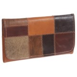 American West Groovy Soul Trifold Wallet - Leather (For Women)