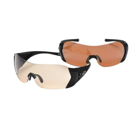 HiDefSpex Raven Hi Definition Sporting Shield Glasses Kit - Varia Lens, 2 Pair