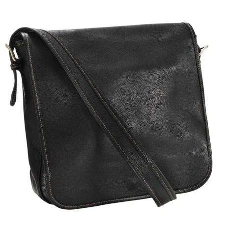 Aston Leather Messenger Bag - Large