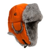 Mad Bomber® Saddlecloth Aviator Hat - Rabbit Fur Trim (For Men and Women)