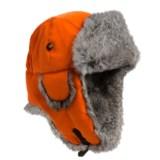 Mad Bomber® Saddlecloth Aviator Hat - Rabbit Fur Trim (For Men and Women)