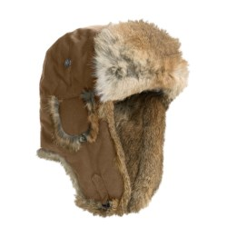 Mad Bomber® Waxed Cotton Aviator Hat - Rabbit Fur (For Men and Women)