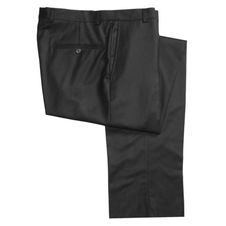 Hickey Freeman Flannel Dress Pants - Worsted Wool, Flat Front (For Men)