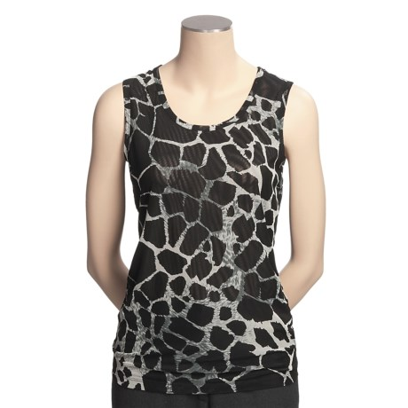 Think Tank Animal Print Tank Top (For Women)