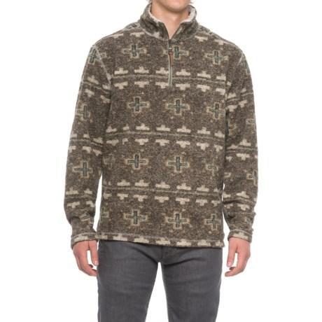 True Grit Melange Blanket Shirt - Zip Neck, Long Sleeve (For Men)
