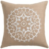 """Rizzy Home Embroidered Throw Pillow - 18x18"""""""