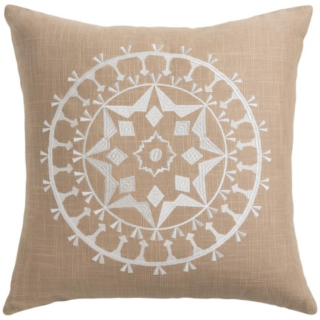 Rizzy Home Embroidered Throw Pillow - 18x18""