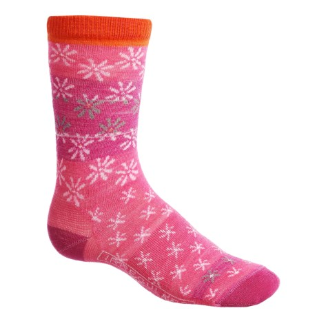 SmartWool Daisy Dot Socks - Merino Wool, Crew (For Big Girls)