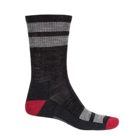 SmartWool Striped Hiking Socks - Merino Wool, Crew (For Men)