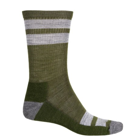 SmartWool Striped Hiking Socks - Merino Wool, Crew (For Men)
