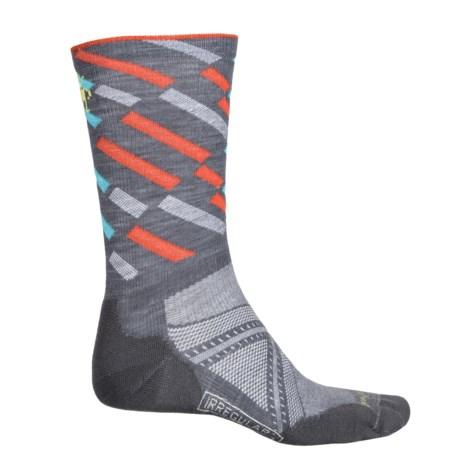 SmartWool PhD Light Elite Pattern Run Socks - Crew (For Men and Women)