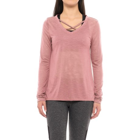 Balance Criss-Cross Layering Shirt - Long Sleeve (For Women)