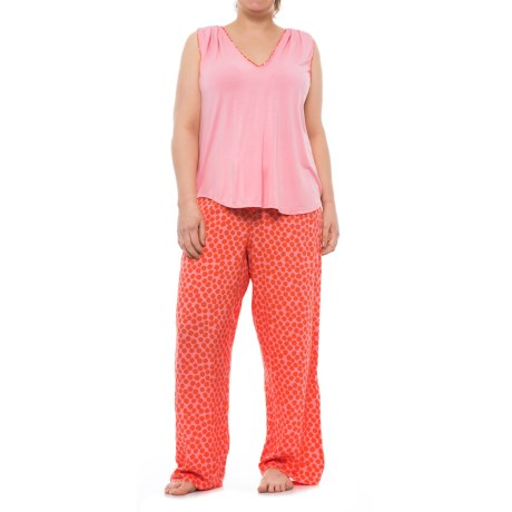 Oscar de la Renta Pink Oscar de la Renta Tank Top and Pants Pajamas (For Women)