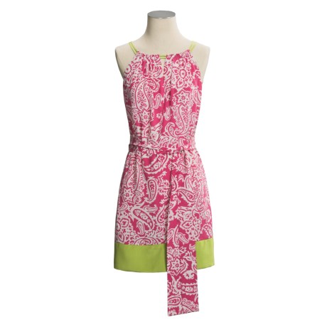 Donna Morgan Crepe de Chine Halter Dress - Paisley, Sleeveless (For Women)