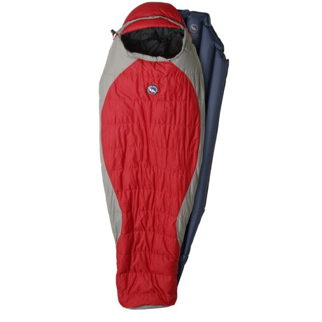 Big Agnes 15°F Crater Down Sleeping Bag with Sleeping Pad - Long Mummy, 600 Fill Power