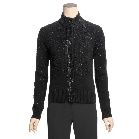 Bogner Winona Cardigan Sweater - Sequined, Wool-Cashmere (For Women)
