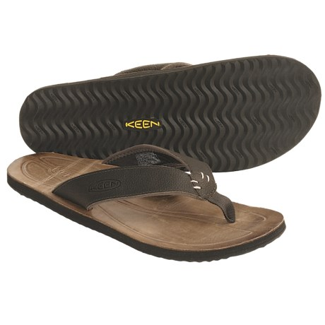 Keen Rockaway Thong Sandals - Leather (For Men)