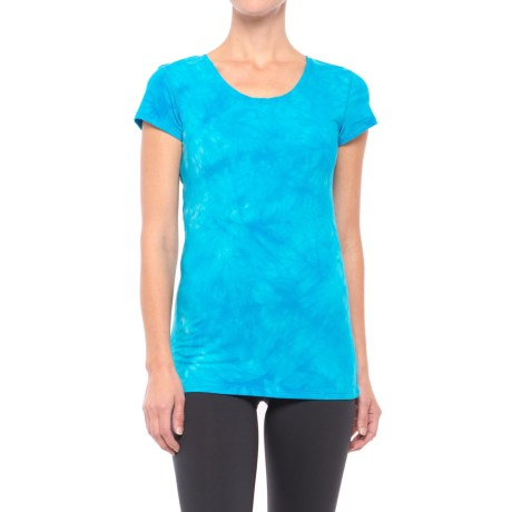 Earth Yoga Cross-Back T-Shirt - Organic Cotton, Short Sleeve (For Women)
