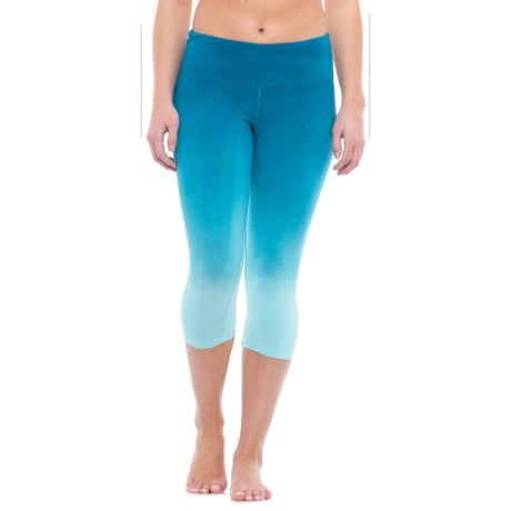 Earth Yoga Ruched-Back Capris - Organic Cotton (For Women)