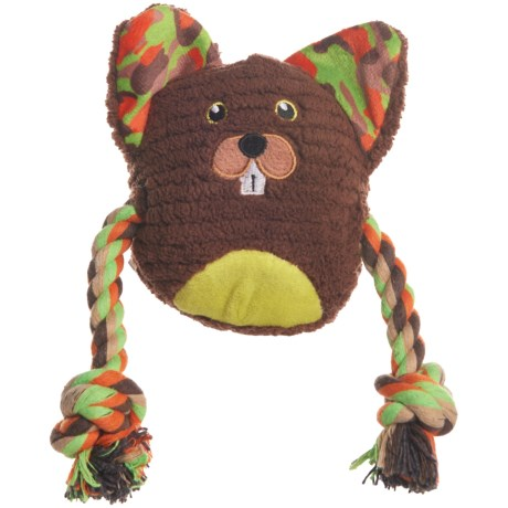 Animal Planet Plush Beaver Dog Toy - Squeaker