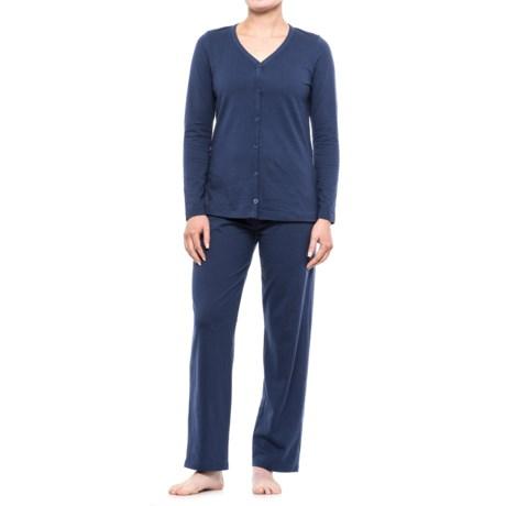 Jockey Jersey Pajamas - Long Sleeve (For Women)