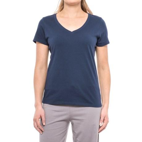 Jockey Dotcom V-Neck Lounge Shirt - Short Sleeve (For Women)