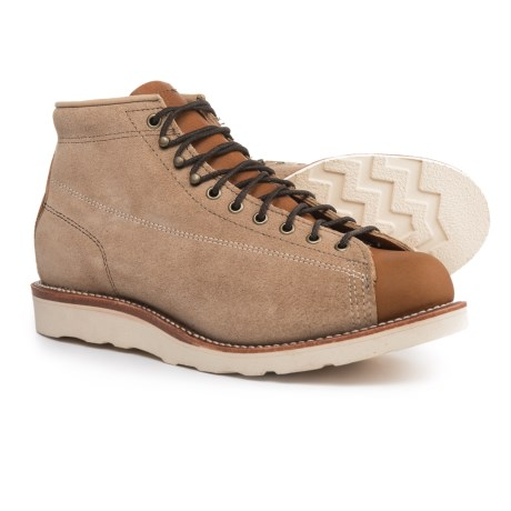 "Chippewa General Utility Bridgemen Boots - Two-Tone Suede, 5"" (For Men)"