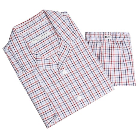 Courtney & Brooks Cotton Pajamas - Short Sleeve (For Men)