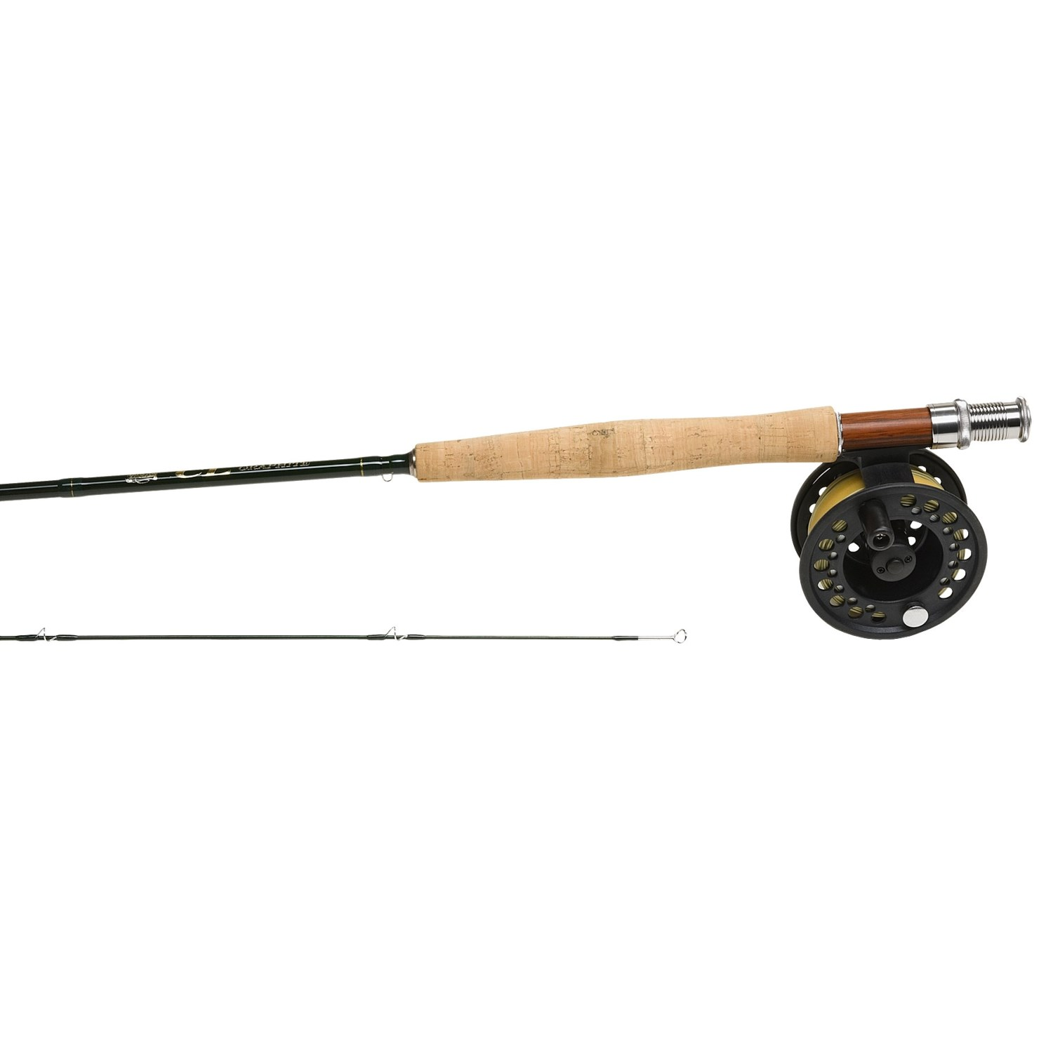 Cortland cl trout fly fishing outfit 2 piece rod with for Trout fishing rod and reel