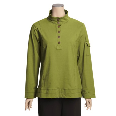Neon Buddha Mock Pullover Shirt - Long Sleeve (For Women)