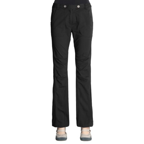 Linea Blu Cotton Pants - Flat Front, Articulated Knee (For Women)