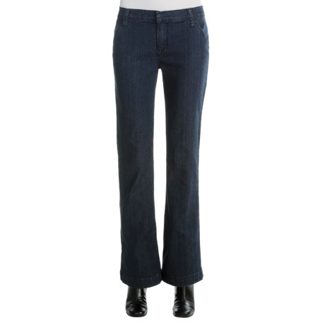 Specially made Stretch Denim Dress Jeans - Flat Front (For Women)