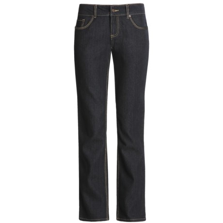 Flat-Front Stretch Denim Jeans (For Women)