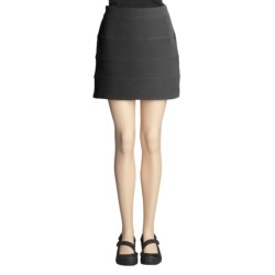 Specially made Ribbed Bandage Mini Skirt - Zip Back (For Women)